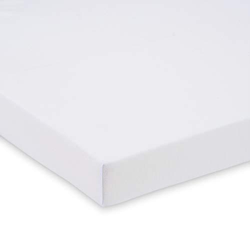 FabiMax 2673 Jersey Spannbettlaken für Kinderbett, 70 x 140 cm, weiß