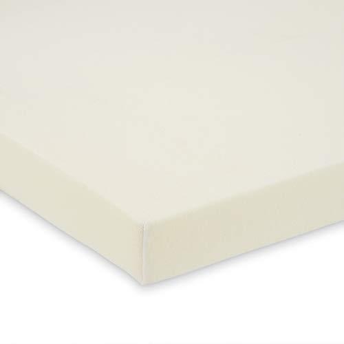 FabiMax 4245 BIO Jersey-Spannbettlaken 90x55 für Beistellbett, creme, eierschalenfarbe
