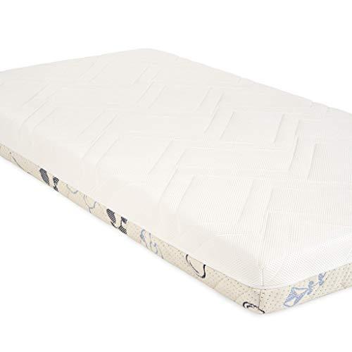 Sweety Fox - Babymatratze 60x120 - Babybett und Kinderbett - Wendbar mit Sommer- und Winterseite - Komfort, Frische und Wärme - Matratzenhöhe 11cm