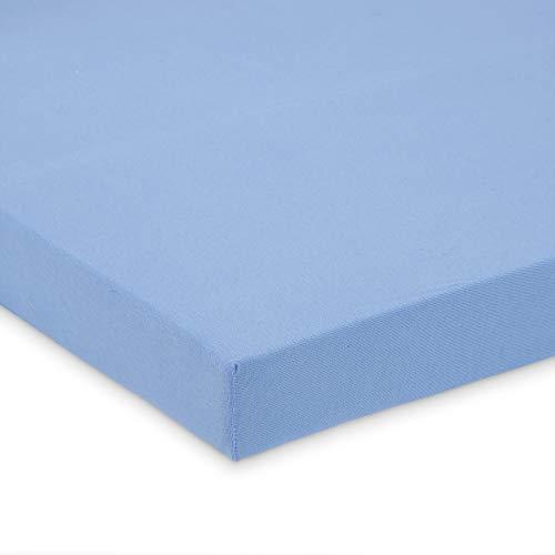 FabiMax 2675 Jersey Spannbettlaken für Kinderbett, 70 x 140 cm, blau