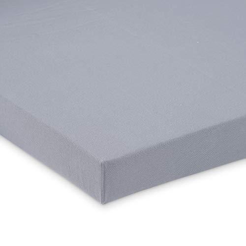 FabiMax 3670 Jersey Spannbettlaken für Stubenwagen und Bollerwagen, 45 x 85 cm, oval, grau