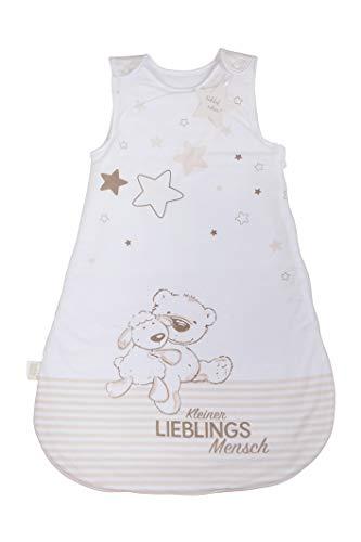 Herding Baby Best Baby-Schlafsack, Kleiner Lieblingsmensch Motiv, 70 cm, Seitlich umlaufender Reißverschluss und Druckknöpfe, Weiß