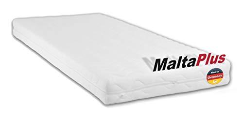 M.K.F. Matratze Malta Plus 90x180 cm. Hochwertige Kindermatratze aus Kaltschaum für Kinderbett/Babybett 90 x 180 cm. Atmungsaktive Schaumstoffmatratze mit Frotteebezug.