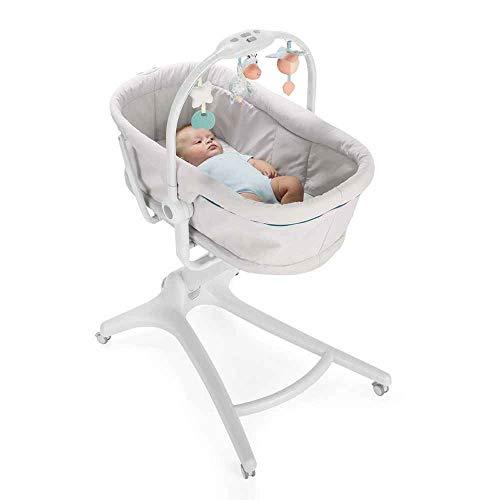 Chicco Baby Hug 4 In 1 Stubenwagen Liegesessel (von 0-6 Monate) Hochstuhl erster Stuhl (von 6-36 Monate) glacial