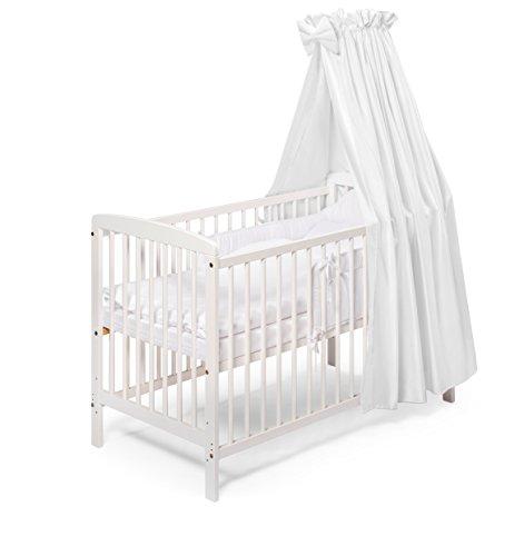KOKO Babybett Kinderbett Komplettbett JULIA weiss 120x60 cm JULIA