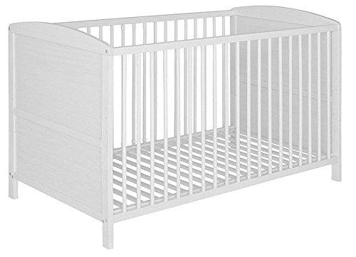 Best For Kids Gitterbett 2 in 1 Patrick 70x140 cm mit Matratze 10 cm Juniorbett Kinderbett Babybett in zwei Farben (Weiß)