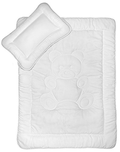 Kinder Bettdecken Set mit Bärchensteppung 40x60 cm + 100x135 cm nach Öko-Tex Standard 100 zertifiziert