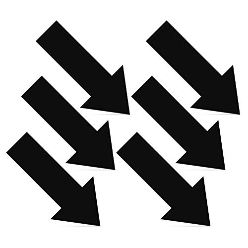 LPxdywlk 6Pcs Arrow Decals Abnehmbare Selbstklebende Wandaufkleber Aus PVC Im Erdgeschoss Schwarz