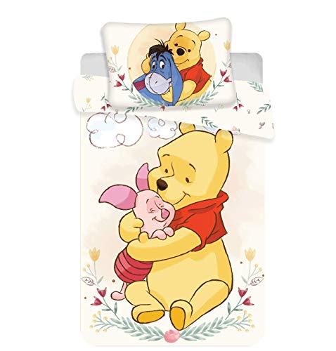 Disney Winnie Pooh Bettwäsche Set 2 TLG. Gr.: 100x135 cm, 40x60 cm 100% Baumwolle
