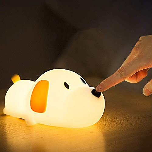 LED Nachtlicht Kinder Nachtlampe mit Touch Schalter Tragbare Silikon Nachtlichter USB Aufladen Nachtlampe für Schlafzimmer, Camping, Wohnräume