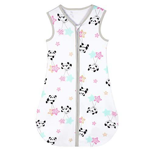 Yoofoss Schlafsack 100% Baumwolle Baby Schlafsack 70x45cm Panda-Muster Babyschlafsack Neugeborene im 0-6 Monaten