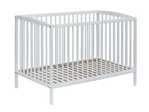Best For Kids Gitterbett One höhenverstellbar in weiß Babybett 60x120 cm mit Lattenrost (Weiß)