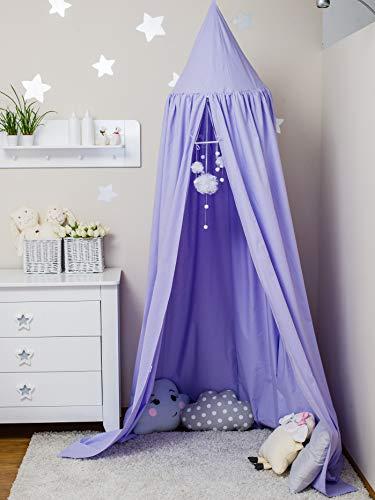 ComfortBaby ® Babybett-Himmel - Höhe: ca. 2,4 m (Violett)