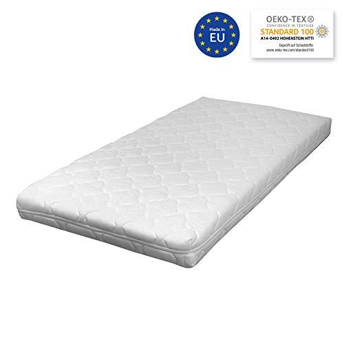 Sun Garden Matratze für das Kinderbett, 60 x 120 x 10 cm Kindermatratze mit bis zu 60°C Grad waschbarem Bezug