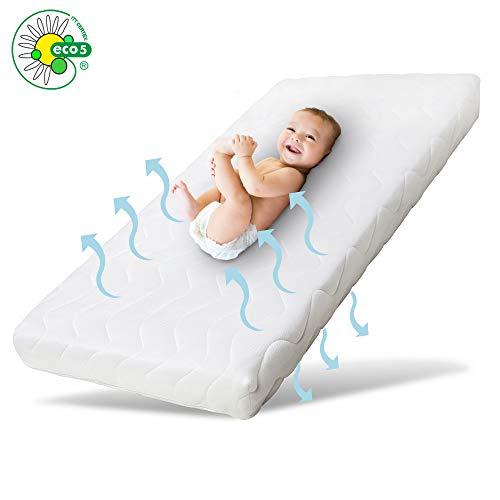 Ehrenkind® Babymatratze Pur | Babymatratze 60x120cm | Matratze 120x60 aus hochwertigem Schaum und Hygienebezug