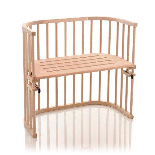 babybay Original Beistellbett aus massivem Buchenholz für Tag und Nacht I Kinderbett Höhe verstellbar & umweltfreundlich I mitwachsendes Babybett (Natur Unbehandelt)