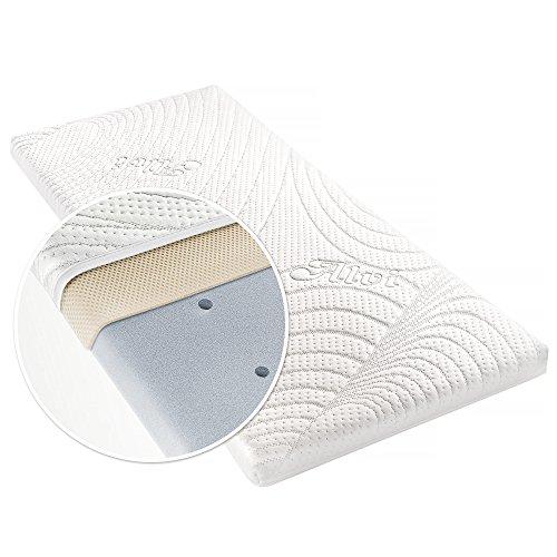 Alvi Matratze für Beistellbett & Wiege - TENCEL® & Dry - 90 x 40 cm/Funktionsbezug mit Nässeschutz/vertikale Luftkanäle / 3D-Luftpolster-Auflage/allergikergeeignet/schadstoffgeprüft