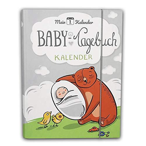 Mein 1. Kalender das Baby Tagebuch, Babys erstes Jahr, Entwicklungsberater mit 365 Ratschlägen für dein Baby, Erinnerungsalbum